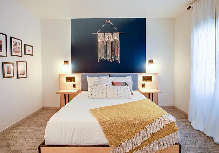 Bed in the Standard Queen Room